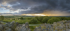 Beacon Hill Rain (John__Hull) Tags: panaroma beacon hill leicestershire charnwood woodhouse wood trees rock outcrop clouds rainfall nikon d3200 summer countryside england uk fields path