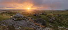 Honey Dew (http://www.richardfoxphotography.com) Tags: honeybagtor dartmoornationalpark haytor houndtor saddletor chinkwelltor sunrise outdoors heather granite tor
