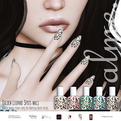 alme. Golden Leopard Spots @ The Hidden Chapter x TCF - August 2017 (ChloeElectra) Tags: avatar alme almebychloeelectra appliers belleza bento bentohands chloeelectra cosmetics chapterfour tcf event exclusive femaleavatar female fashion femme grid mesh maitreya meshbody meshhands meshfeet nailpolish nails new newrelease omega secondlife slfashion secondlifefashion sl slink slinkmale tutys tuty virtualworlds virtual vistabento vistahands woman world