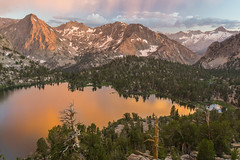 Range of Light (Dancing.With.Wolvez) Tags: sierra nevada summer 2017 backpacking high california sunset sunrise new fresh epic john muir hike camp mountains rock clouds color foxtail lake reflection snow peak a6000 sony jmt pct granite talus pass