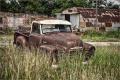 And Time Stands Still (A Anderson Photography, over 1.9 million views) Tags: truck pickup chevrolet chevy abandoned canon vehicle rust sunvisor