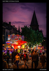 Festival (Falcdragon) Tags: sonya7riialpha sonyzeisssonnarfe1855mmza evening liège luik lüttich belgium europe city urban streetphotography cityscape light