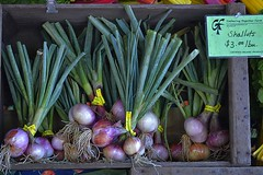 Organic (swong95765) Tags: shallots onions display food organic produce