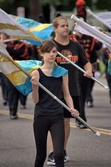 Flag Girl (swong95765) Tags: parade flags girl highschool waving