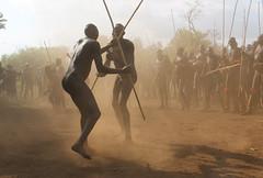 Surma stickfight (martien van asseldonk) Tags: ethiopia donga surma martienvanasseldonk stickfight koka