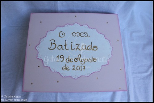 "Caixa grande de batizado ""Sweet Lace"""