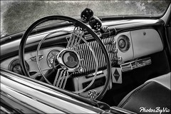 Buick Dash (Photos By Vic) Tags: buick dash dashboard bw classic car carshow generalmotors antique automobile vehicle vintage art
