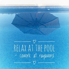 relax at the pool & get business stuff done in the productive atmosphere of a coworking space #coworkingmallorca (DoSchu) Tags: swimmingpool coworking relaxandwork instagram rayaworx mallorca