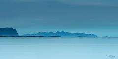 mountain blues (Just me, Aline) Tags: 201707 alinevanweert noorwegen norway stave lofoten sea zee bergen mountains kust coast leefilters bigstopper9ndhg leefilter filter langesluitertijd longexposure water blauw blue
