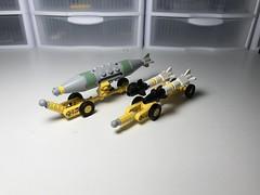 Ordnance Cart (BrickEngineer) Tags: lego air ordnance jdam bomb airplane sidewinder missile aam