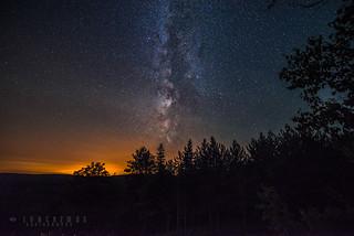 Milky way + Light pollution