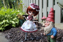 IMG_0540 (Dollymama2015) Tags: pullipmerl doll groovedoll redhead ginger lolitastyle dolldress handmadedollclothes sugarlattice gnome garden outdoors