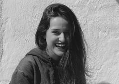 My Own Laughter (ARTE - MARK) Tags: black blackandwhite blue blackonblack white dramatic drama dark dslr photography smile happiness happy girl preto branco nikon canon instagram inspiration indie tumblr vsco
