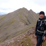 Me on the way up Sgurr Fiona, with Bidean a' Ghlas Thuil behind thumbnail