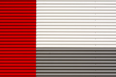 Wall with grey, red and white (on Explore) (Jan van der Wolf) Tags: map173184v wall muur gevel facade lines lijnen minimalism minimalistic minimalisme grey grijs red rood redrule white wit geometric geometry gebouw