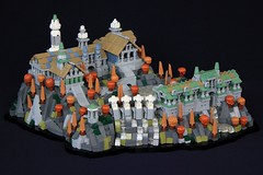 Rivendell (soccersnyderi) Tags: lego moc creation model replica rivendell elven city tolkien lotr lord rings fantasy landscape trees buildings tower pavilion water waterfall river rockwork cliff technique stairs roof roofs pillar micro microscale