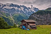 The little old barn in Gimmelwald. Canton of Bern Switzerland. No. 542. (Izakigur) Tags: berneroberland bern berne berna nikond700 nikkor2470f28 myswitzerland musictomyeyes mountains alps alpes alpen alpi ch cantonofbern swiss suiza suisia suizo suïssa summer suíça europa dieschweiz d700 nikkor gimmelwald schilthorn thejungfrauregion switzerlnad svizzera lasuisse busen busenalp