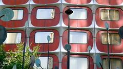 Novotel, Paris, France (Winfried Scheuer) Tags: modular architecture red sculpture eames 60s 70s pop prefabricated big business warhol bertoya nelson neutra modernist space age