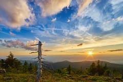 Blick in diesige Rheintal (Benni's Fotobude) Tags: hornisgrinde schwarzwald ortenau ortenaukreis hochschwarzwald rheintal sommer cloud wolken sonnenuntergang mummelsee b500 schliffkopf ruhestein schwarzwaldhochstrase blackforest baden nordschwarzwald