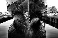 norgoma (twurdemann) Tags: blackandwhite boat bondarmarina carferry dock greatlakes historical hubtrail ice marina morning niksilverefex norgoma ontario passengerferry saultstemarie ship stmarysriver summer touristattraction water waterfront