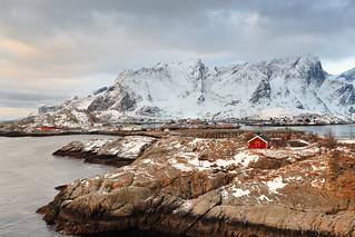 View towards SW.over Toppoya island to Olenilsoya-Sakrisoya-Andoya islands. Reinevagen-Moskenes-Lofoten-Norway. 0222
