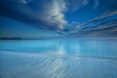 magic silver sea (Just me, Aline) Tags: 201707 alinevanweert noorwegen norway stave lofoten sea zee kust coast beach strand wolken clouds lucht sky leefilter lee bigstopper nd9hg zonsondergang sunset explore