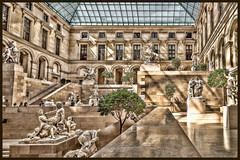 Cour Marly (docoverachiever) Tags: sculpture france courmarly building art digitalart architecture louvre hss postprocessing paris