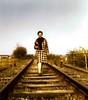 Tracks (Minoltacolours - I shoot Film!) Tags: 70s 1978 scan tracks rail portrait people old vintage retro