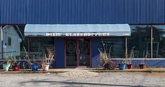 Dixie Glasshoppers (N.the.Kudzu) Tags: suburban atlanta dekalbcounty avondale georgia storefronts blue canon70d lightroom