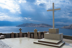 Rays of light...shining through.View from the Sveti Ivana church and graveyard, right after the thunderstorm. (Gergely_Kiss) Tags: adria horvátország raysoflight shiningthrough adriatic hrvatska seaview graveyard svetiivana sea landscape baska krk croatia