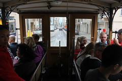 Out the front of a streetcar (atsolo) Tags: sanfrancisco california train trolley rails