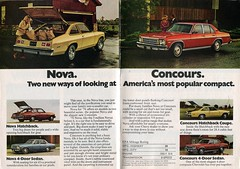 1976 Chevrolet Nova and Concours Advertisement Readers Digest November 1975 (SenseiAlan) Tags: 1976 chevrolet nova concours advertisement readers digest november 1975