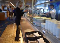 Dinner choices (thomasgorman1) Tags: food dinner people buffet woman nikon cruise dining plates