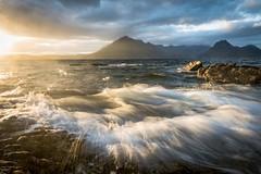 Elgol, Isle of Skye (MDG534621) Tags: sun sunset mountainscape seascape surf movement water ocean sea waves uk scotland skye elgol