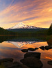Sunset at Trillium Lake ( Mt Hood NF, OR) (Sveta Imnadze) Tags: sunset reflection trilliumlake fall mthoodnf oregon