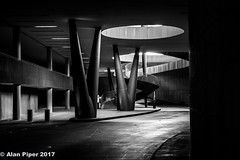 Antinoti Winery, B&W (PapaPiper) Tags: italy tuscany winery antinori bargino florence architecture monochrome bw lightshade space lines asthetic contours greatphotographers greaterphotographers