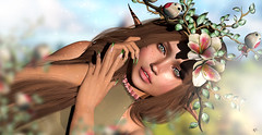 Nature elf (meriluu17) Tags: lode foxcity laq sg slackgirl stealthic nature bird animal fairy fae elf elven elfish ear innocent soft light lights people closeup portrait green blossom fantasy