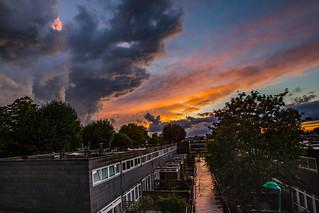 Moody Brixton sunset.