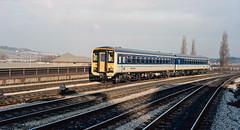 DMU 155 309 at Newport (Gwent). 01/12/87. (Marra Man) Tags: newport newportgwent sprinter class155 155309