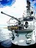Cod's forward AA gun (SteveMather) Tags: antiaircraft gun photo app artistic rendition uss cod cleveland ohio downtown harbor fleet submarine memorial tour 2017 gato class diesel electric