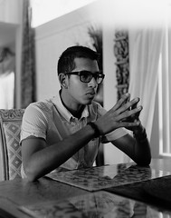 Kunal (Jacob Gralton) Tags: black white film ilford hp5 4 by 5 4x5 large format photography street darkroom bw monochrome portrait