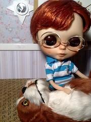 Blythe-a-Day#20. Goodbye&#21. Love: Peanut & Barkley