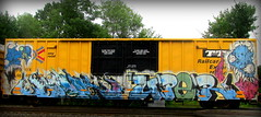 grom - bolr - uper (timetomakethepasta) Tags: grom grominate bolr uper freight train graffiti art boxcar ttx tbox benching selkirk new york photography