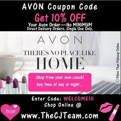 New Avon Coupon Code (cjteamonline) Tags: avon avoncouponcodes cjteam couponcodes finalday freeavon freeshipping goingfast lastday limitedquantities limitedtime newavoncouponcode onedayonly onetimeuse onlinepromotion orderavononline ordertoday promotion sale thecjteam today welcome10 whilesupplieslast