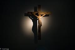 The Light and the dark (torvug) Tags: light dark jesus cross faith lerins abbey saint honorat island
