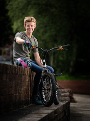 Nathan (MX Man) Tags: boy son cyclo trials bike echo lite one strobe pony good x 1 n t f ad 600 b m fuji xt 2 50140 f28