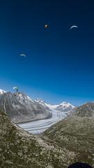 Über dem großen Aletschgletscher