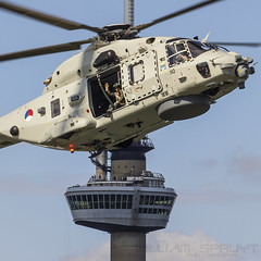 RNLAF NH90-NFH 110 and Euromast (william.spruyt) Tags: nh90 rotterdam euromast helicopter