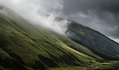 The Hill and the River (daedmike) Tags: scotland moffat valley glen moffatwater bellcraig mist cloud hillwalking hills mountain river stream burn
