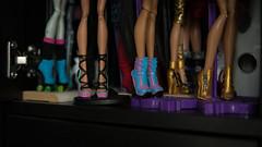 А doll's shelf (dancingmorgana) Tags: organization storage shelf dolls home workspace
